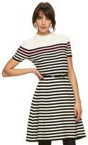 Elle Women's ELLETM Striped Mockneck Sweaterdress