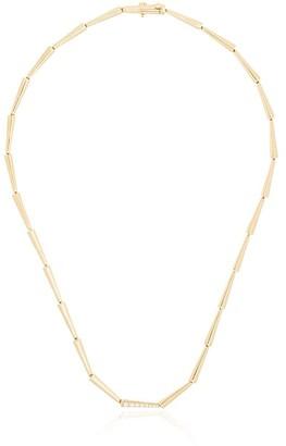 Melissa Kaye 18kt yellow gold Lola diamond link necklace