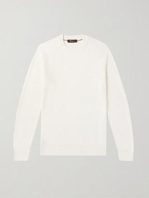 Loro Piana Striped Cotton And Silk-Blend Sweater