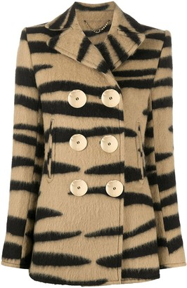 Paco Rabanne Tiger Print Double-Breasted Jacket