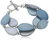 "Kenneth Cole New York Denim Days"" Shell Teardrop Toggle Bracelet, 8"""