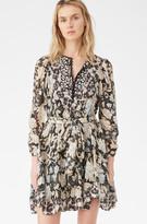 Rebecca Taylor Print Mix Clip Dress