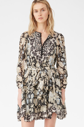 Rebecca Taylor Print Mix Clip Dress
