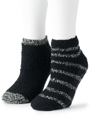 Dr. Scholl's Women's 2-Pair Soothing Spa Low-Cut Slipper Socks