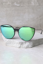 LuLu*s Spitfire Alpha 2 Clear and Silver Mirrored Sunglasses