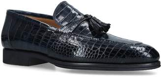 Brotini Crocodile Leather Tassel Loafers