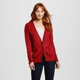 Mossimo Women's Long Sleeve Boyfriend Cardigan Red