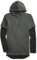 American Rag Men's Colorblocked Long-Sleeve Hooded T-Shirt, Only at Macy's