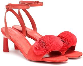 Mercedes Castillo Oraley leather and suede sandals