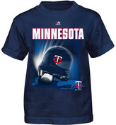 Majestic Toddlers' Minnesota Twins Kinetic Helmet T-Shirt