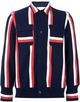 Sacai knitted shirt jacket