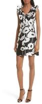 Milly Women's Sadie Ruffle Poppy Print Dress