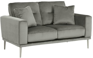 "Signature Design by Ashley Macleary Modern Steel Loveseat - 59""W x 36""D x 36""H"