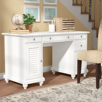 Three Posts Hunterstown Desk Color: White
