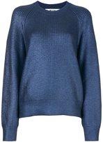 MSGM shimmer effect jumper - women - Virgin Wool - XS