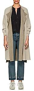 Pas De Calais Women's Double-Faced Wool-Blend Cardigan - Gray