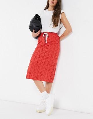 NATIVE YOUTH midi skirt in rust