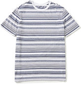 Roundtree & Yorke Soft-Washed Short Sleeve Stripe Crewneck Tee