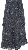 Girl. by Band of Outsiders Printed silk-chiffon skirt