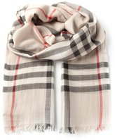 Burberry 'House check' scarf - women - Silk/Wool - One Size