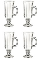 Jay Import Optic Irish Coffee Mugs - Set of 4