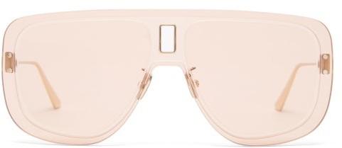 Christian Dior Ultradior Aviator Acetate Sunglasses - Pink