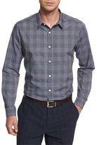 Theory Zack PS Kembla Mod Glen-Plaid Sport Shirt, Navy