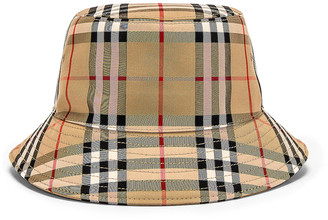 Burberry Heavy Cotton Check Bucket Hat in Archive Beige | FWRD