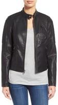 Levi's Women's Quilt Detail Faux Leather Racer Jacket