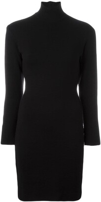 Gianfranco Ferré Pre Owned Fitted Turtleneck Knit Dress