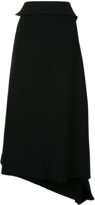 Yohji Yamamoto Wool Cropped Loose Fit Trousers