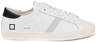 D.A.T.E Hill Low White Leather Sneakers