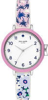 Kate Spade Tropical silicone park row watch