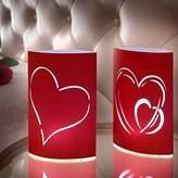 TotalCadeau Lot 2 Lanterns LED lamp hearts