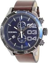 Diesel Men's Double Down DZ4312 Brown Leather Quartz Watch
