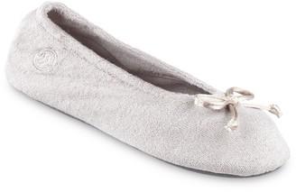 Isotoner Women's Terry Ballet Flat Slippers