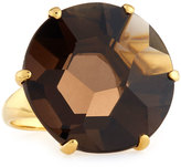 Ippolita Gemma 18k Smoky Quartz Solitaire Cocktail Ring