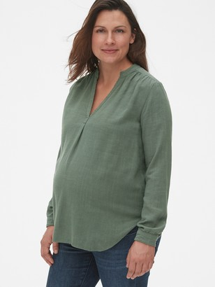Gap Maternity Split-Neck Popover Shirt