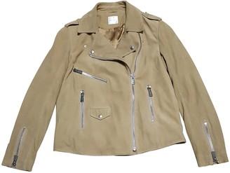 Anine Bing Spring Summer 2019 Beige Suede Leather Jacket for Women