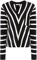 Chloé striped knitted sweater - women - Cotton - M