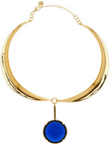 Trina Turk Curved Collar & Polished Stone Pendant Necklace