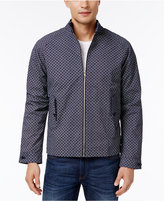Ben Sherman Men's Harrington Geometric-Print Cotton Jacket