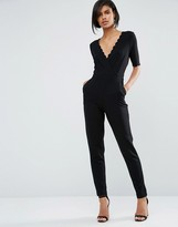French Connection Bow Scallop Jumpsuit