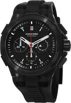 Concord C2 Automatic Chronograph Men's Rubber Strap PVD Swiss Made Watch 0320138