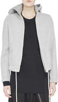 Bassike Cropped Hooded Wool Jacket