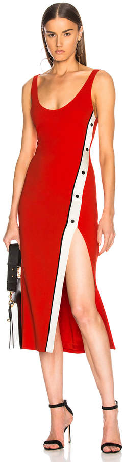 David Koma Snaps Slit Tank Dress