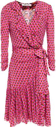 Diane von Furstenberg Ruffled Printed Stretch-jersey Wrap Dress
