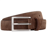John Lewis Suede Leather Belt, Brown
