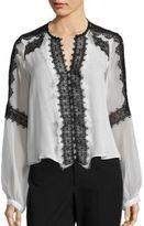 Nanette Lepore Long Sleeve Silk Top