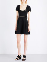 Sandro Ladder-stitch knitted mini dress